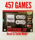 Super Nintendo SNES CLASSIC Mini Hacked Modded 457 SNES games with BOX ART!