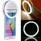 Rechargeable Portable Selfie LED Ring Fill Light for iPhone Cell Phone Tablet