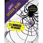 Halloween Giant White Spiders Web 60g /2.1ozs Use Indoors or Outdoors Party Dec