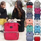 2017 Fashion Large Mummy Maternity Nappy Diaper Bag Baby Bag Travel Backpack USA