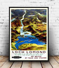 Loch Lomond : old Railway advertising ,  Reproduction poster, Wall art.