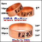 "Внешний вид - 25  50   3/8""  1/2""   3/4""  1"" PEX Copper Crimp Rings by Sioux Chief Made In USA"
