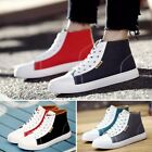 Newest Men Casual Shoes Mixed Color Sneakers Teenagers High Top Shoes Ventilate