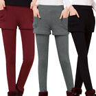 Chic Women's Casual Leggings Soft Two-Piece Pants High Elastic Fitness Trousers