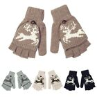 Newest Women's Knitted Gloves Comfy Half Finger Flip Top Fashional Hands Care