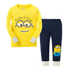 NEW KIDS TODDLER LONG SLEEVE PAJAMAS SLEEPWEAR SETS MINION SZ 2-7T