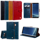 Classic Flip Premiun Highlights Leather Wallet Slots Strap Stand Cover Case Jcw