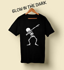 Skeleton Dab Halloween T-Shirt Glow Skull Scary Costume for Adults