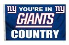 """NFL Team """"You're In Country"""" Football Logo Deluxe 3 x 5 Foot Flag New Variety"""