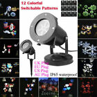 Indoor/Outdoor 12 Patterns Landscape Moving Laser LED Xmas Projector Light Party