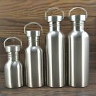 1x Portable Stainless Steel Water Bottle Travel Outdoor Hiking Cycling Bike