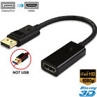 Display Port DP to HDMI Adapter Converter Computer PC to TV Monitor Projector US