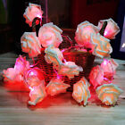 Fairy Wedding Party Christmas Decoration Garland 20LED Rose Flower String Lights