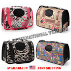 Airline approved Pet Dog Cat Carrier Foldable Travel Bag Tote Shoulder w/ Strap