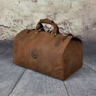Men Retro Leather Fashion Travel Luggage Duffle Gym Bag Designer Tote Suitcase