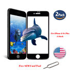 2Pack 3D Curved Full Coverage Tempered Glass Screen Protector For iPhone 6s Plus