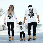 US Stock Family Matching Outfits T-shirt Father DADDY MOMMY Baby GIRL Boys Tops