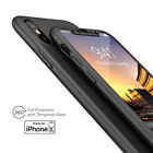 iPhone X 360° Full Body Protective Case Ultra-thin Cover + Tempered Glass  iphone x cases 360 protection 1126263176694040 3