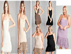 PLUS & REG. LONG TANK SLIP Camisole Dress Extender VINTAGE Lace LAYERED Trim