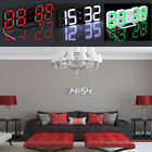 Digital LED Large Display 24/12 Time Night Wall Clock Alarm Snooze Auto Dimming
