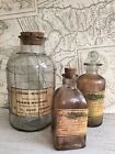 Vintage Style Glass Apothecary Medicine Bottle Chemist Pharmacy Retro Look Jars