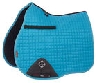 LEMIEUX PROSPORT LUSTRE SUEDE GP SQUARE SADDLE CLOTHS -TEAL-TURQUOISE-PINK-BLUE