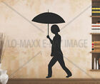 Umbrella Girl Art Cute Silhouettes Wall Window Home Decor Die Cut Vinyl Decal