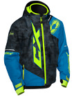 Castle X Youth Kid's Stance Hooded Snowmobile Winter Snow Jacket Coat Blue Black