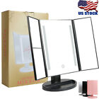 Trifold Lighted Makeup Mirror Illuminated 36 LED Touch Charminer 2x 3x Tabletop
