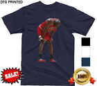 MICHAEL JORDAN FLU GAME T SHIRT RETRO XII VS JAZZ NBA 90S NEW LEGEND MENS S-XXL image