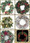 GORGEOUS CLASSIC CHRISTMAS WREATHS-MEDIUM SIZE 20 & 30cm-CHOOSE YOUR FAVOURITE!