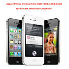 "Original Apple iPhone 4S Dual Core 3.5"" 8MP GPS 3G WCDMA Unlocked Cell Phone"