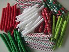Korker Ribbon~100 precut pieces~heat sealed~RED CHRISTMAS~you pick the size