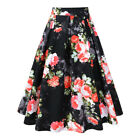 Floral Pleated A line Skirts with Pockets Women 1950s Swing Party Dance Skirt
