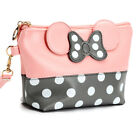 Women Travel Cosmetic Bag Cartoon Bow Hand Holding Makeup Case Zipper Makeup Bag