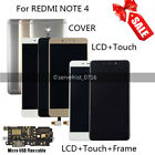 LCD Display Assembly Touch Digitizer Screen Frame Case for Xiaomi Redmi Note 4
