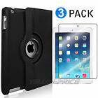 iPad 9.7 inch 2017 / iPad Air Case, 360 Degree Rotating Stand Smart Cover, Black