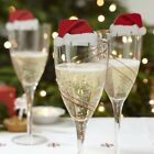 10pcs Christmas Champagne Wine Glass Decor Table Decoration Xmas Party Ornaments