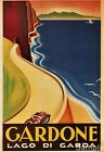 Vintage Lake Garda Italian Travel Poster Italy Picture Art Print A3 A4