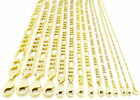 10K REAL Yellow Gold SOLID 1MM-12MM Figaro Chain Necklace LInk Men Women 16