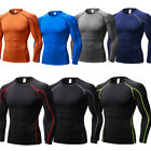 Men's Compression T-shirts Running Basketball Athletic Sportswear Wicking Tights