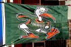 UM Miami University Hurricanes 3X5 NCAA Sports Flag College Banner