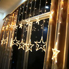 Christmas LED Star String Fairy Hanging Curtain Light Net Home Party Decoration