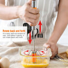 Large Stainless Steel Hand Push Press Egg Whisk Beater Coffee Milk Cream Mixer