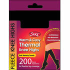 Ladies Thermal Fleece 200 Denier Opaque Black Knee Highs Pop Socks Trouser