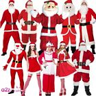 ADULT SANTA CLAUS FATHER CHRISTMAS XMAS MENS LADIES FANCY DRESS COSTUME OUTFIT
