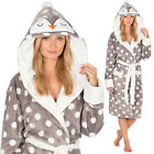 Penguin Womens Thick Fleece Hooded Dressing Gown Size 8 10 12 14 16 18 20 22
