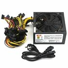 1300 1600W Power Supply For 6GPU Eth Rig Ethereum Coin Mining Miner Dedicated OW