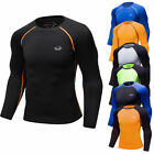Mens Compression Top Basketball Running Base Layers Long Sleeve Spandex Slim fit