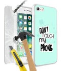 Dont Touch My Phone Design Case Cover with Glass For Various Mobile Phones - 029